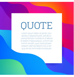 text quote frame vector image