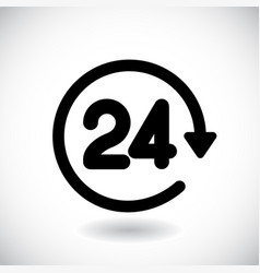 time 24 icon sign vector image
