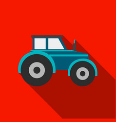 Tractor icon of for web and vector
