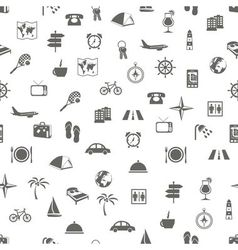 travel and accommodation seamless pattern vector image