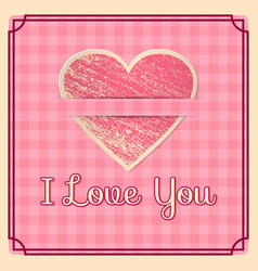 valentine day wedding retro background i love you vector image