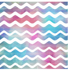 watercolor waves seamless pattern vector image