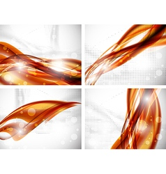 wavy banners vector image