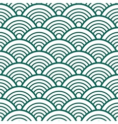 White Green Traditional Wave Japanese Chinese vector
