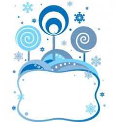 winter frame vector image