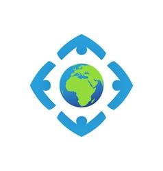 worldwide-foundation vector image