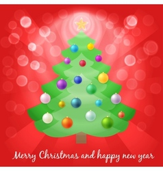 Christmas tree in lights vector image vector image