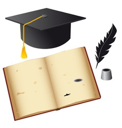 set of isolated objects for the student vector image