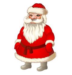 xmas santa claus festive character for decorating vector image vector image
