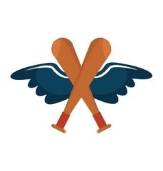 baseball bat isolated icon vector image vector image