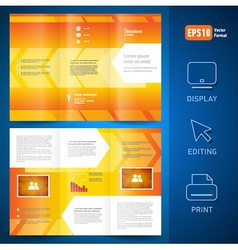 brochure folder leaflet geometric arrow line vector image vector image