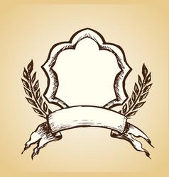 emblem logo hand drawing vector image vector image