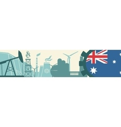 Energy and power icons set australia flag vector