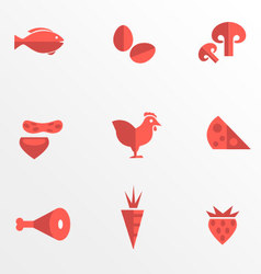 Food category flat icons vector image vector image