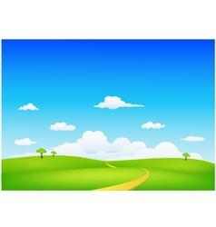 nature landscape vector image vector image