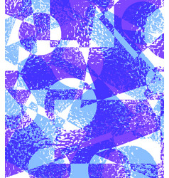 blue purple grunge background of geometric shapes vector image