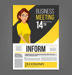 business meeting poster business woman vector image