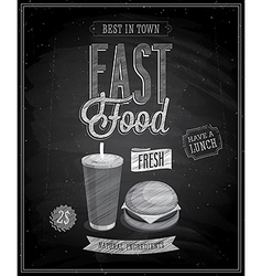 fast food chalk vector image vector image
