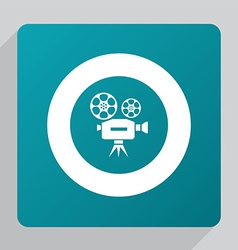 flat video icon vector image