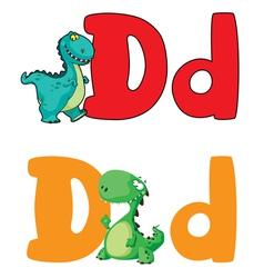 letter D dinosaur vector image vector image