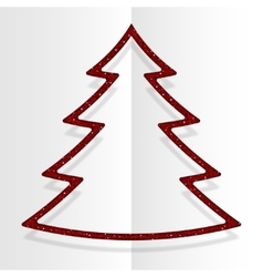 Red Sequins Christmas Tree Winter New Year vector image vector image