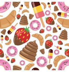 desserts seamless pattern vector image