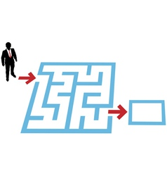 help a business person find a way through a maze p vector image