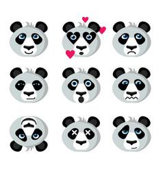 smile icons emoticons panda vector image vector image
