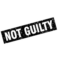 Square grunge black not guilty stamp vector