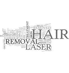 what you should know about laser hair removal vector image vector image