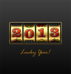 2013 - Lucky Year vector image