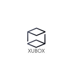 Abstract box cube logo icon template blockchain vector