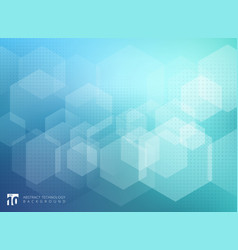 abstract geometric hexagon overlay pattern on vector image