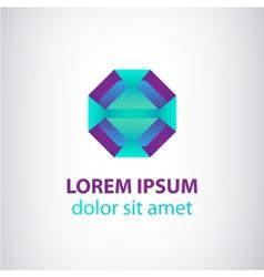 abstract geometric modern futuristic logo vector image