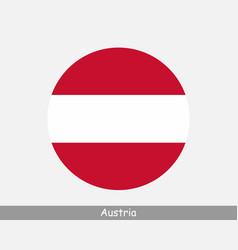 Austria round circle flag vector