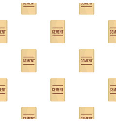 bag of cement pattern flat vector image