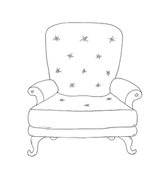 Beautiful vintage chair vector image