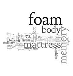 Benefits of the memory foam mattress vector