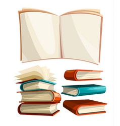 Big piles set of books vector