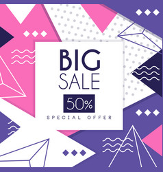 big sale banner special offer 50 percent off vector image
