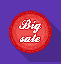 Big sale icon in flat style isolated on white vector