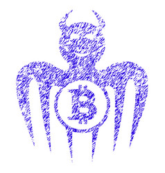 Bitcoin happy spectre devil icon grunge watermark vector