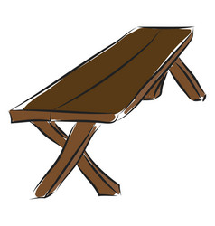 brown wood table from boards basic rgb on white vector image