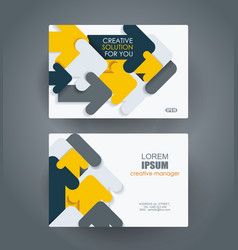 Business cards design with abstract arrows vector