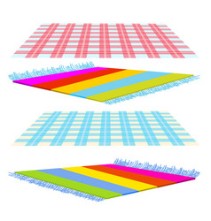 Checked cover carpet tapis isolated vector