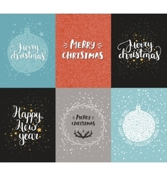 Christmas and New year cards vector image