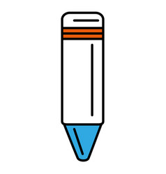 Color crayon isolated icon vector