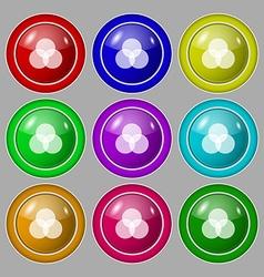 Color scheme icon sign Symbol on nine round vector