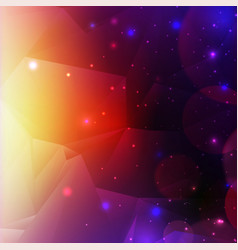 Colorful cosmic background with light shining vector