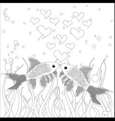 Coloring book colouring picture with collection vector